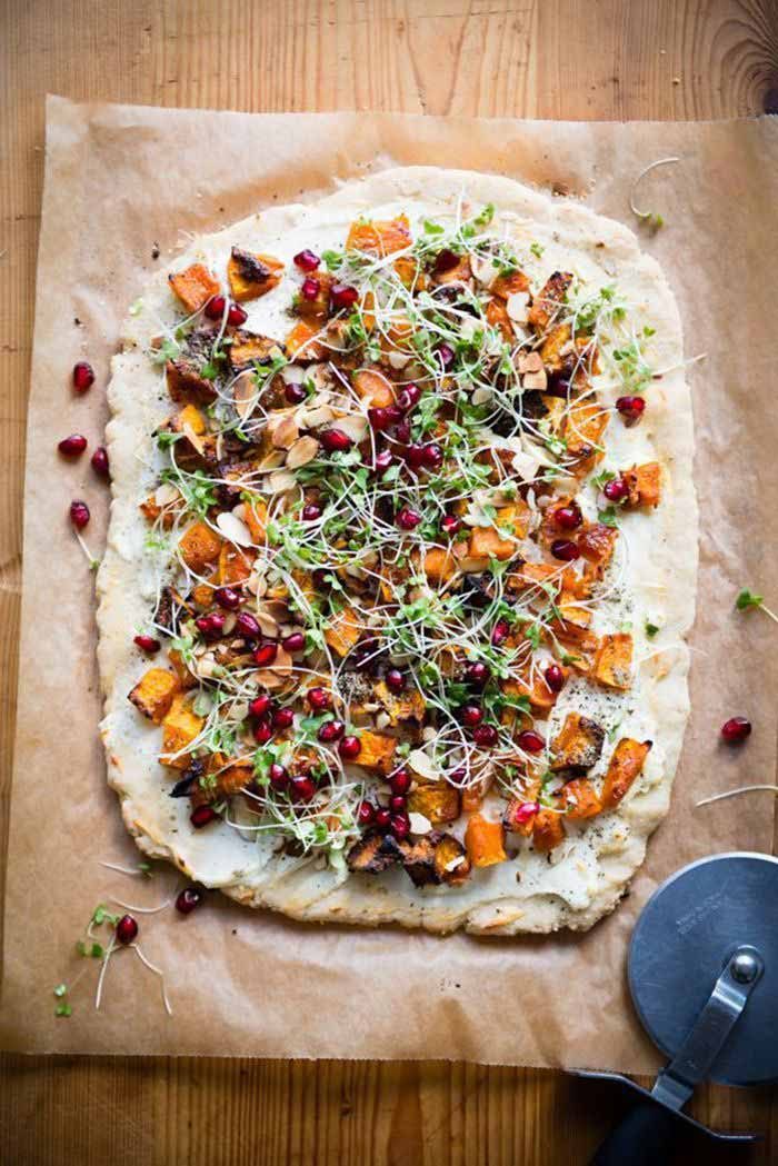 FLATBREAD APPETIZER WITH ROASTED BUTTERNUT SQUASH
