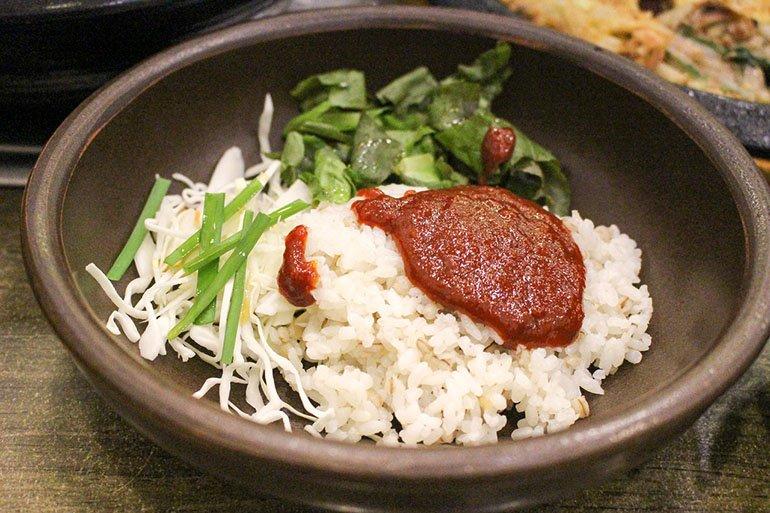 bibimbap and gochujang