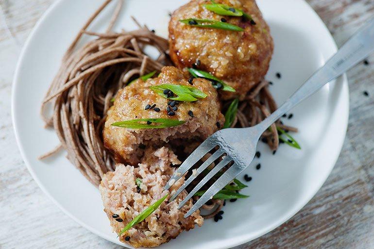 Asian Honey Ginger Meatballs