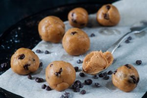 Chocolate Chip Cookie Dough Protein Balls 4