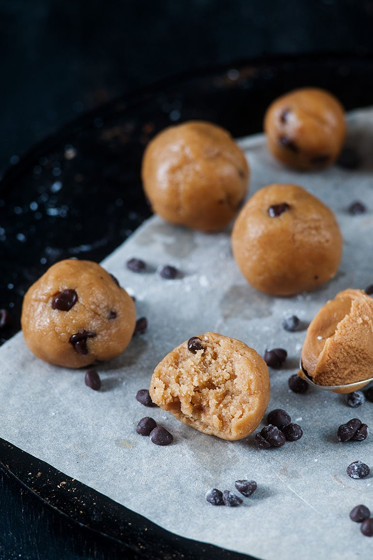Chocolate Chip Cookie Dough Protein Balls 6