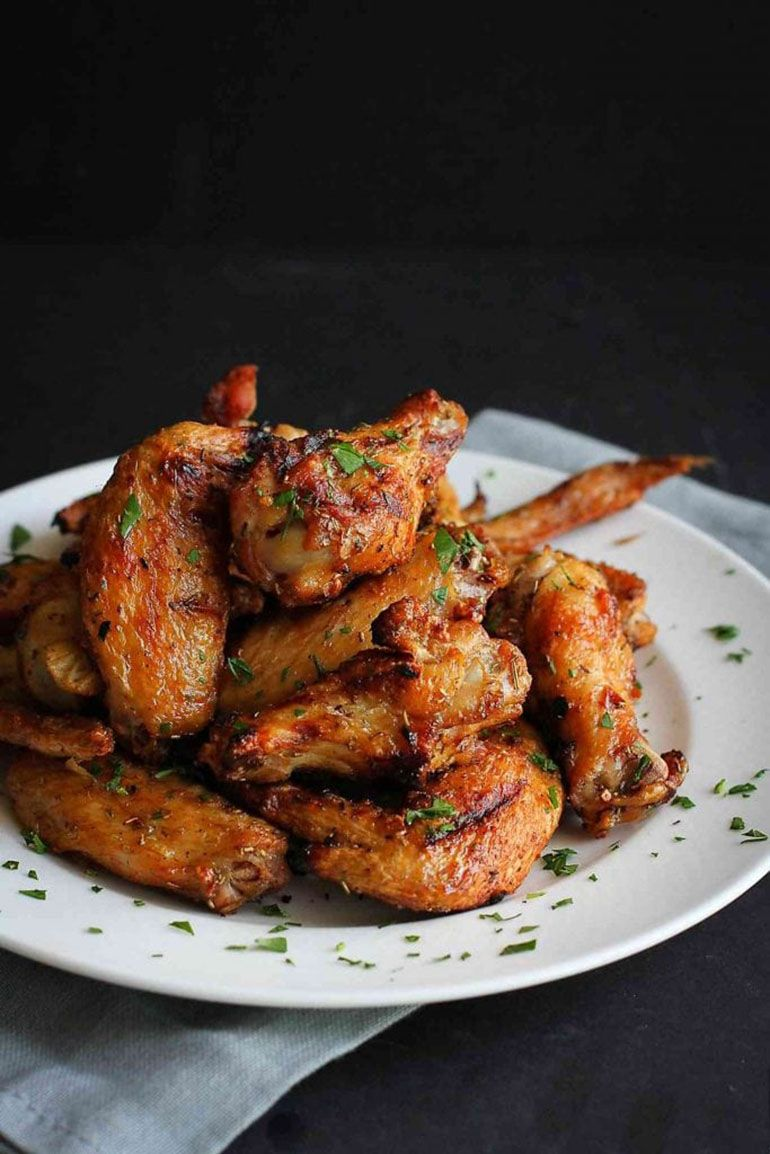 Grilled Chicken Wings Recipe with Rosemary & Garlic