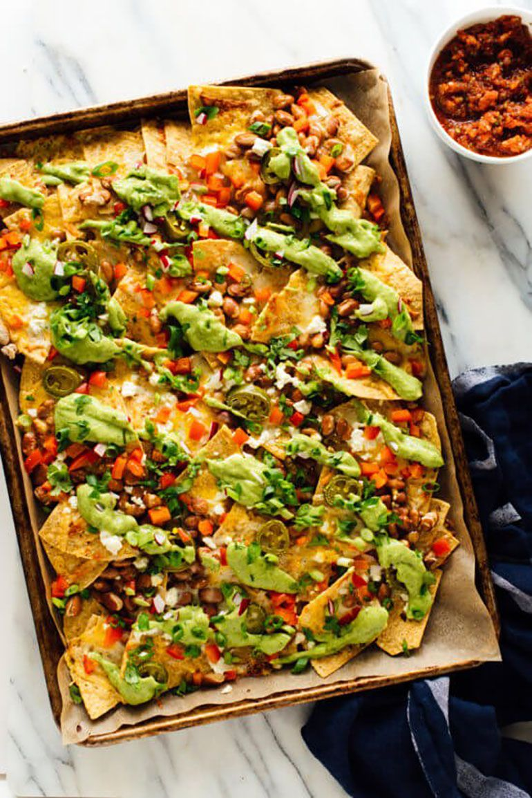 Loaded Veggie Nachos Recipe