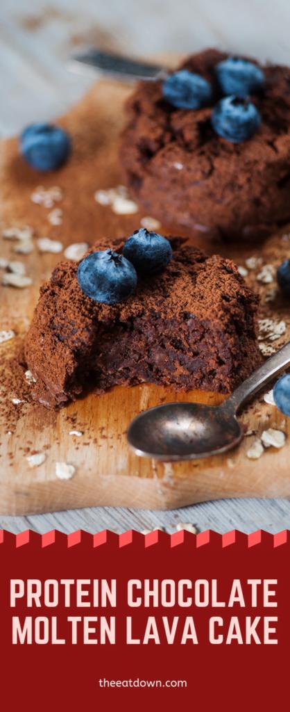 Protein Chocolate Molten Lava Cake Pinterest