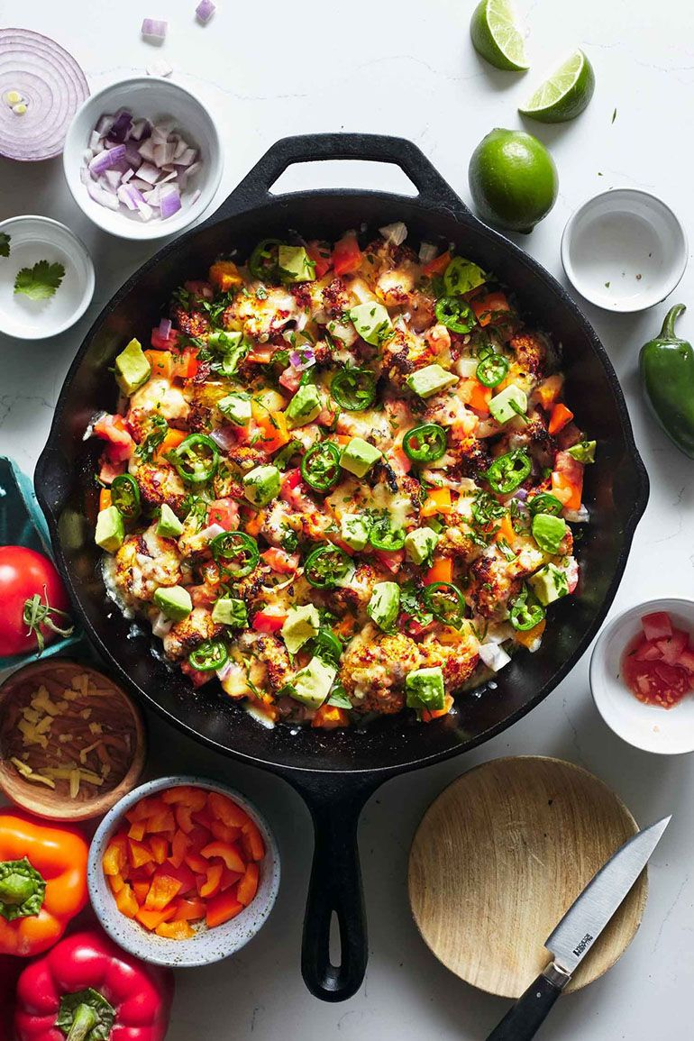 Spicy Cauliflower Nachos