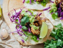 Tandoori Cauliflower Chickpea Tacos Recipe