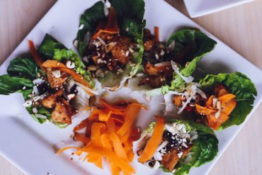 chicken teriyaki lettuce wraps recipe