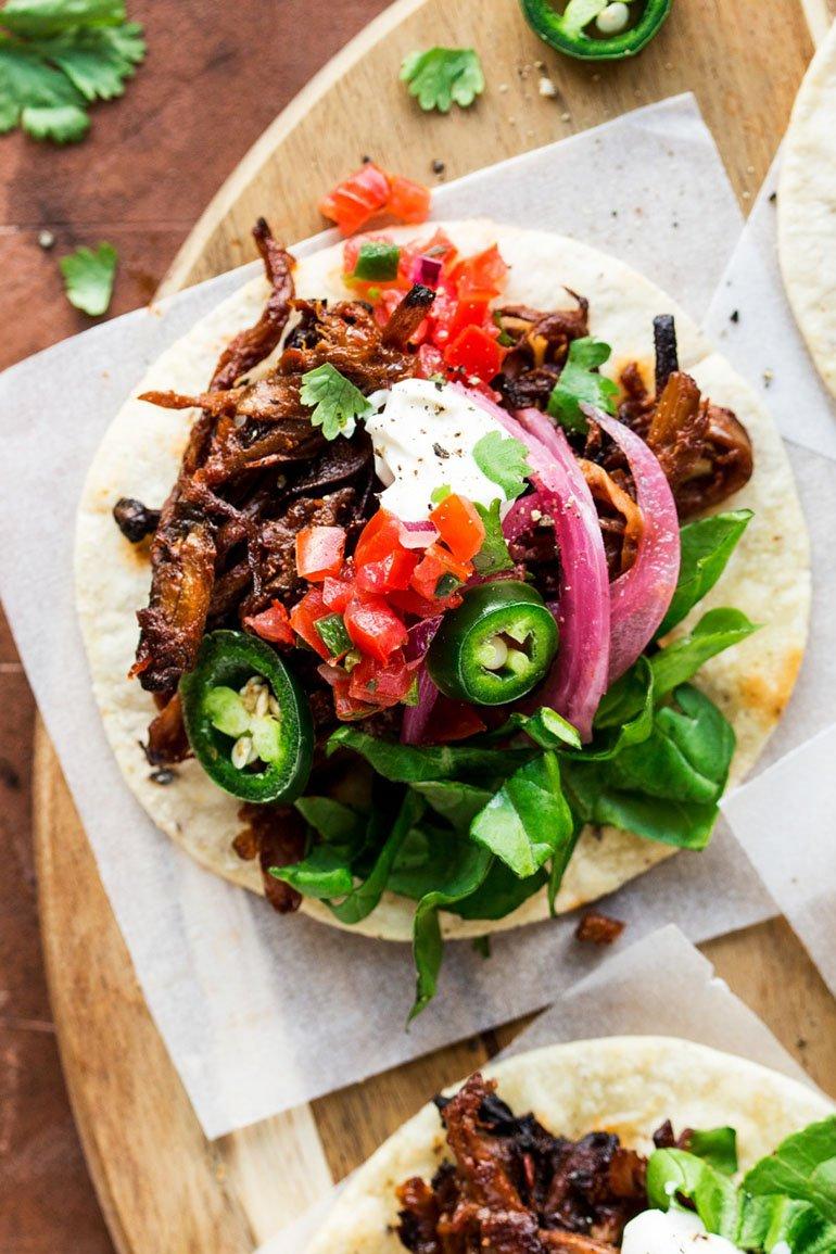 Pulled Mushroom Tacos