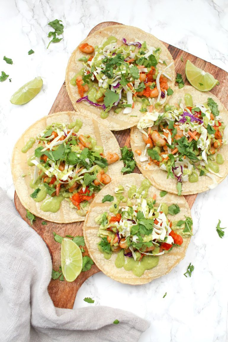 Vegan White Bean Tacos