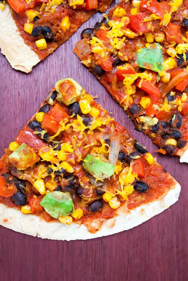 13 Vegan Enchilada Tortilla Pizza