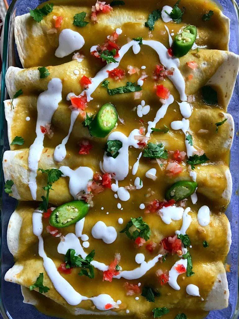 14 Vegan enchiladas verdes