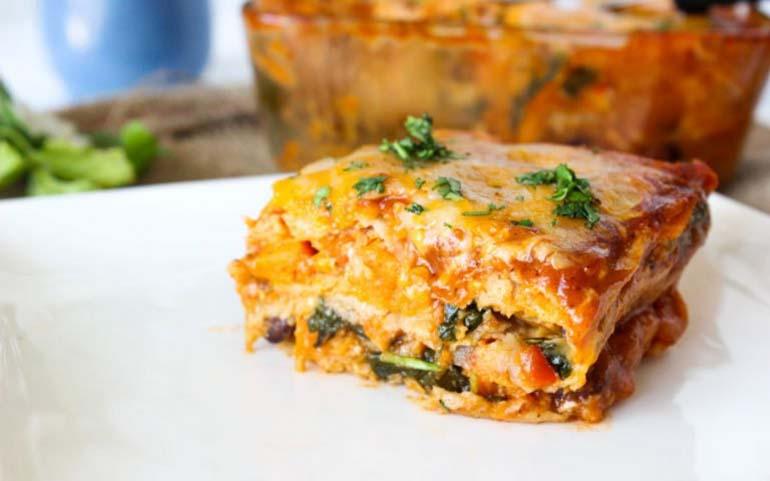 16 Enchilada lasagna