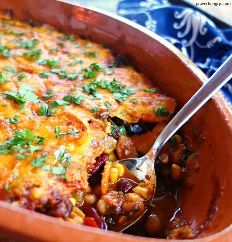 17 Sweet Potato Enchilada Bake