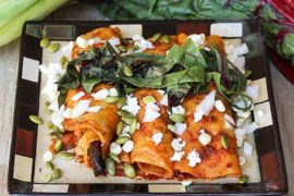 19 Vegan Enchiladas in Red Sauce