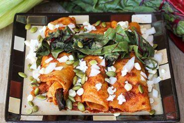 19 Vegan Enchiladas in Red Sauce
