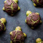 Matcha Milk Bread Turtles
