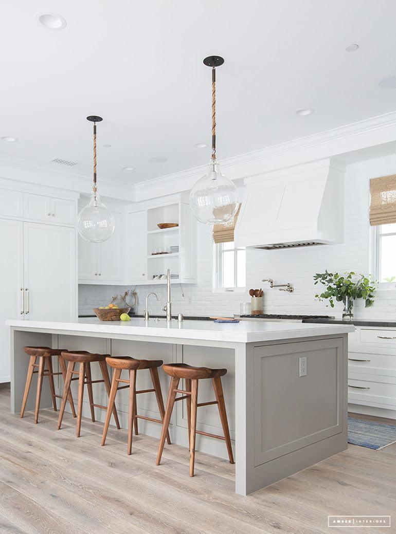 Tessa Neustadt for Amber Interiors white island soft gray