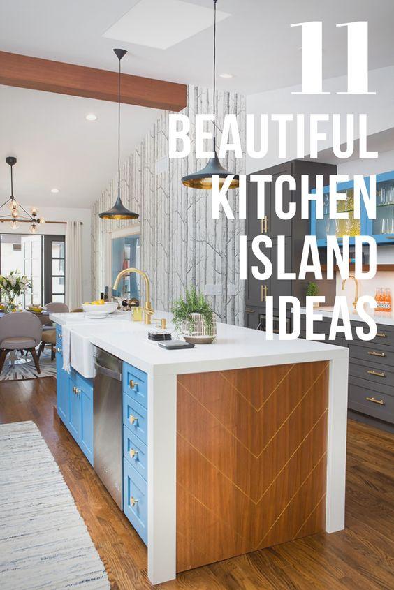 beautiful kitchen islands pinterest