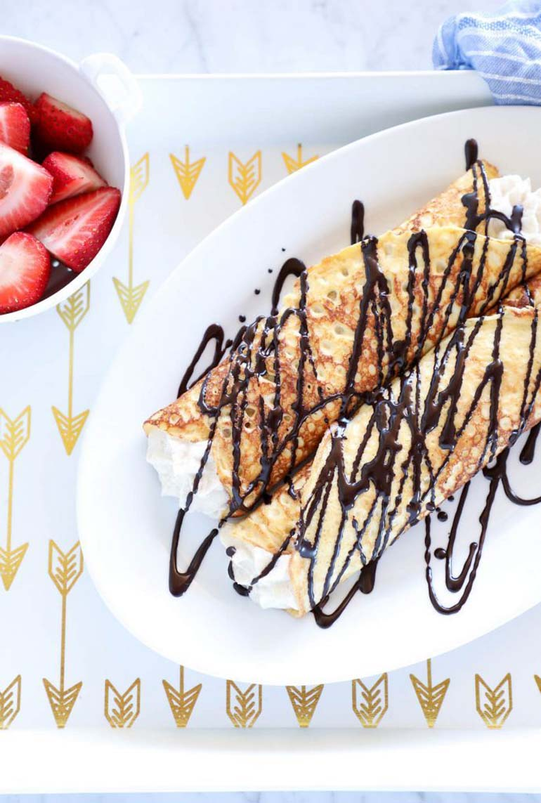 Keto Cannoli Stuffed Crepes