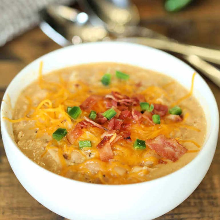 Low Carb Jalapeno Popper Chicken Soup Recipe