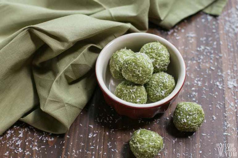Matcha Keto Low Carb Protein Balls
