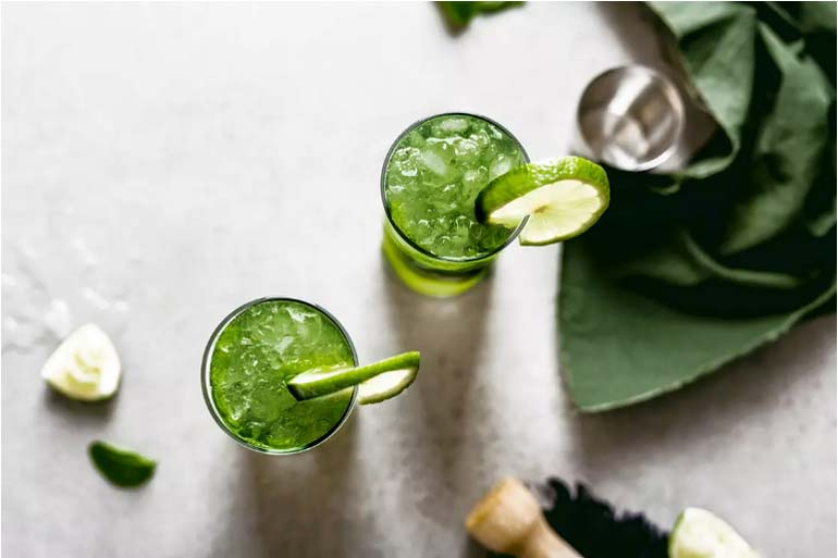 Matcha Mojito Cocktails