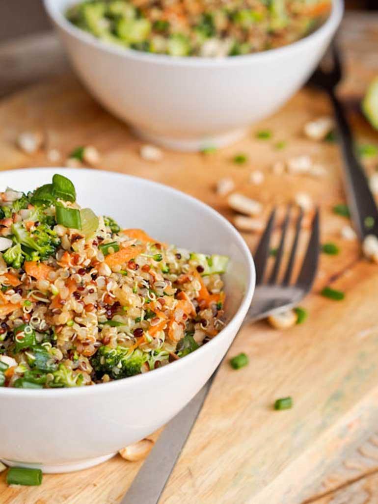 Thai Veggie Quinoa Bowls Recipe
