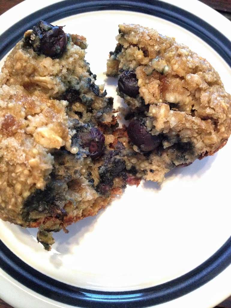 Blueberry Banana Quinoa Muffins