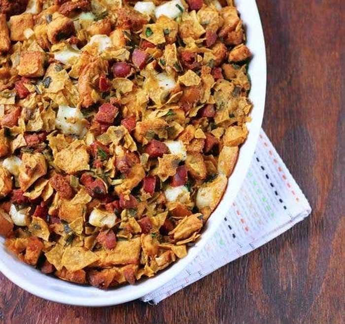 Tortilla Chip and Chorizo Stuffing