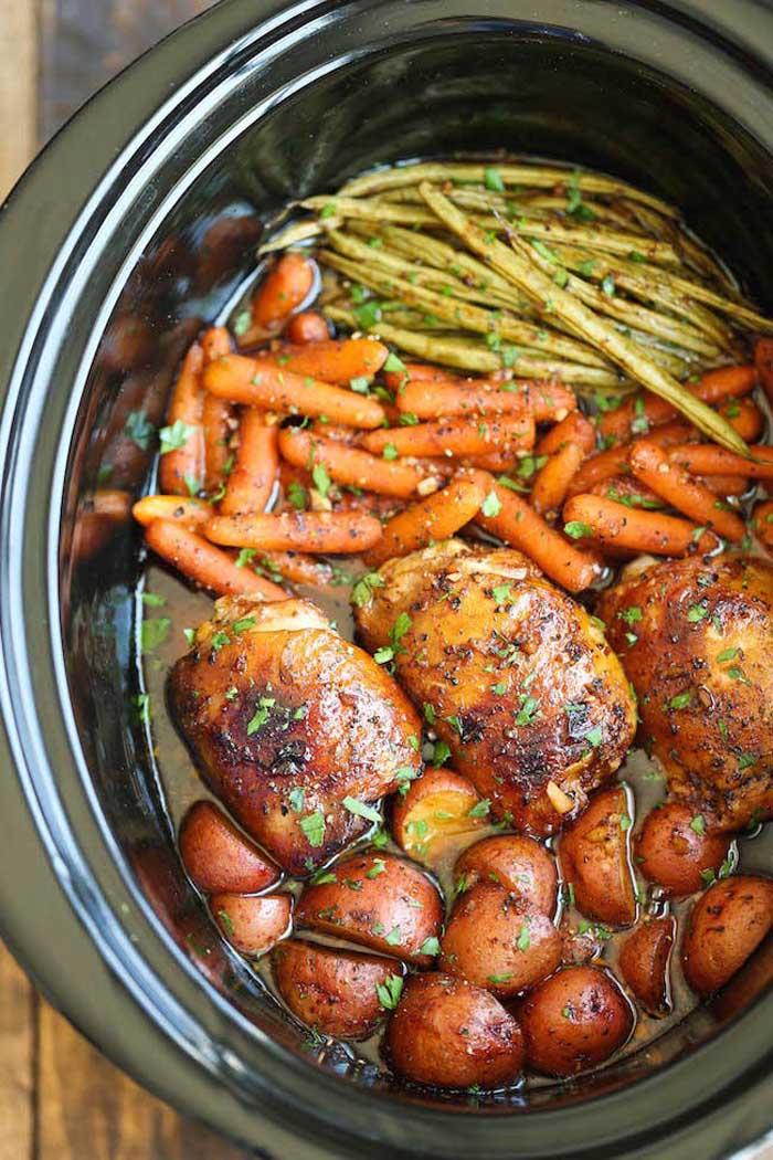 Honey Garlic Chicken & Veggies