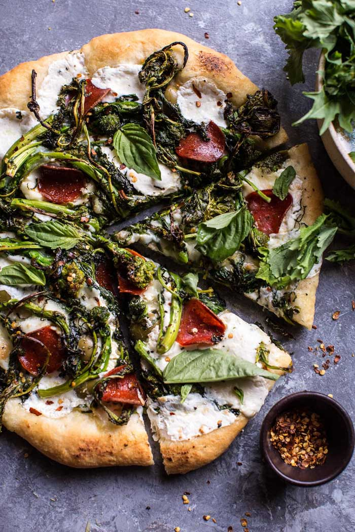 Broccoli Rabe Burrata Pizza