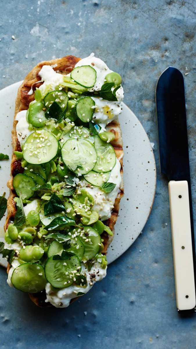 Flatbread with Fava Beans