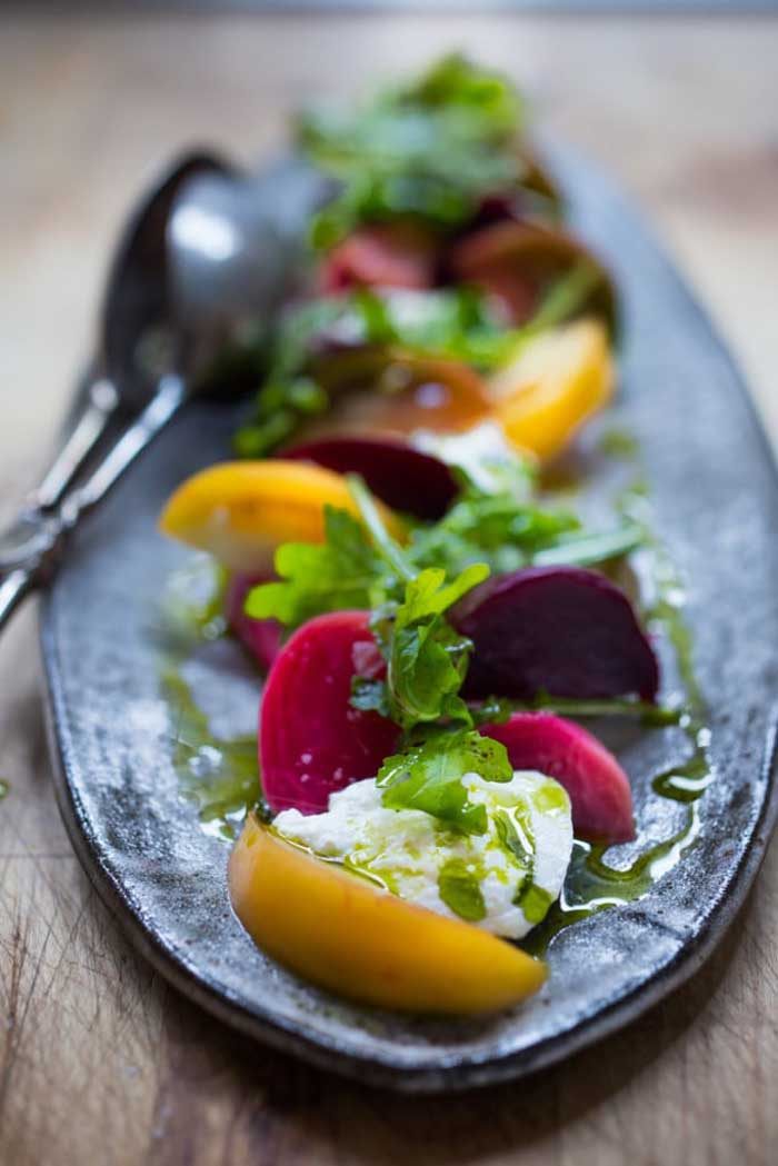 Heirloom Tomato, Beet And Burrata Salad