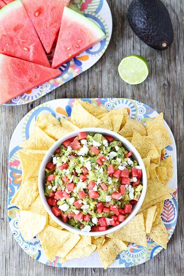 Watermelon Feta Guacamole