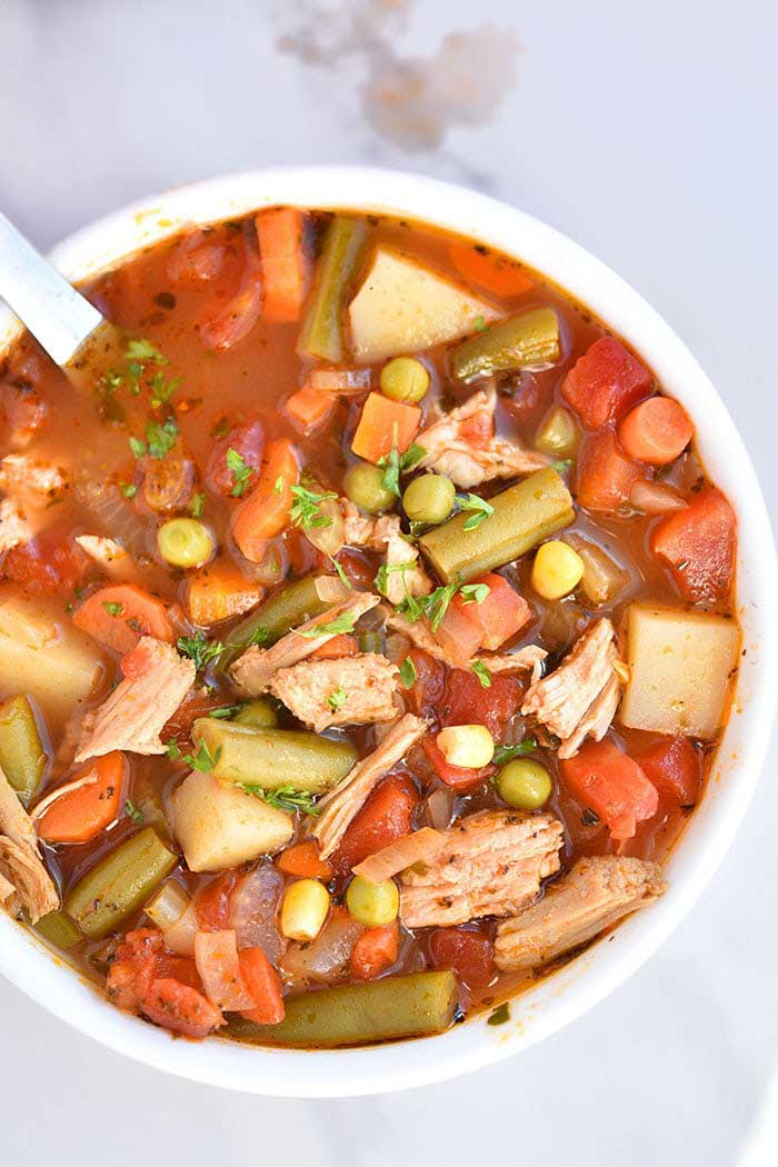 homemade chicken vegetable soup one pot meal
