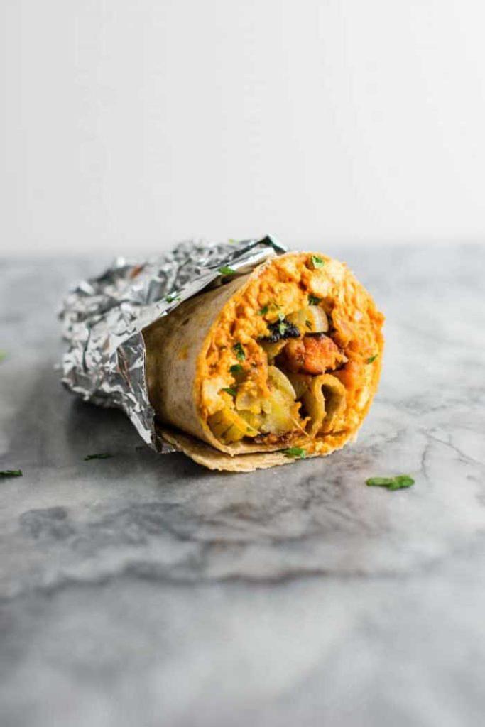 Easy Tofu Vegan Burritos