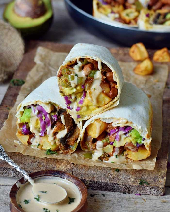 Easy Vegan Breakfast Burritos