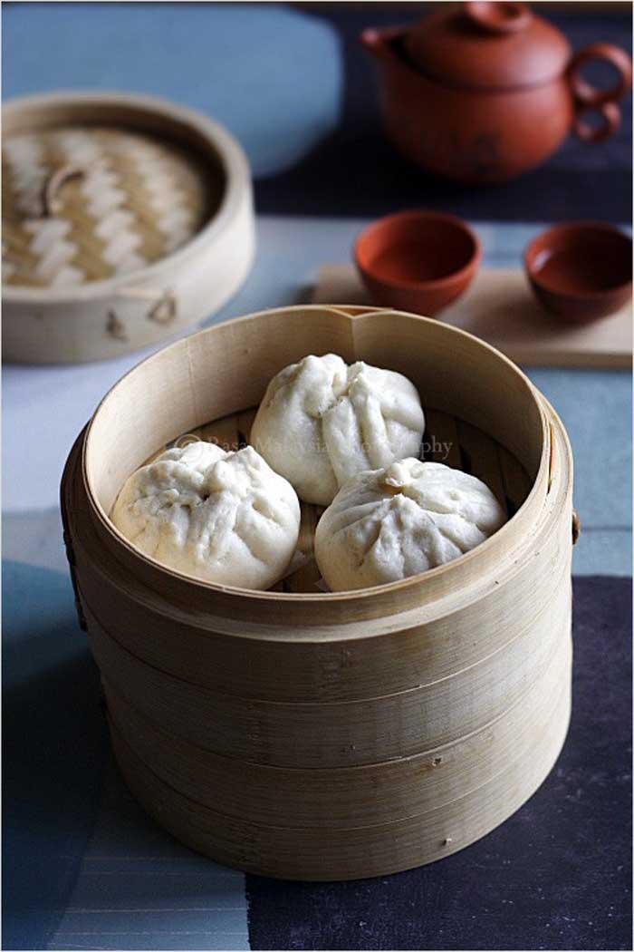 Chicken, Napa Cabbage & Shiitake Mushroom Bao Bun