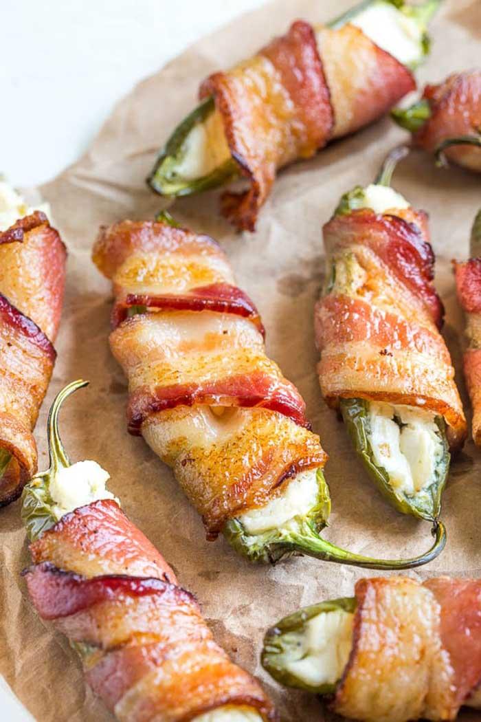 3-Ingredient Bacon Jalapeño Poppers