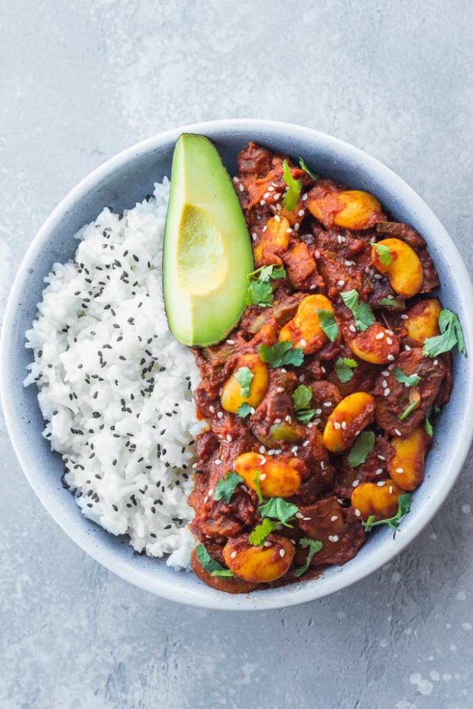 Vegan Chili with Butter Beans