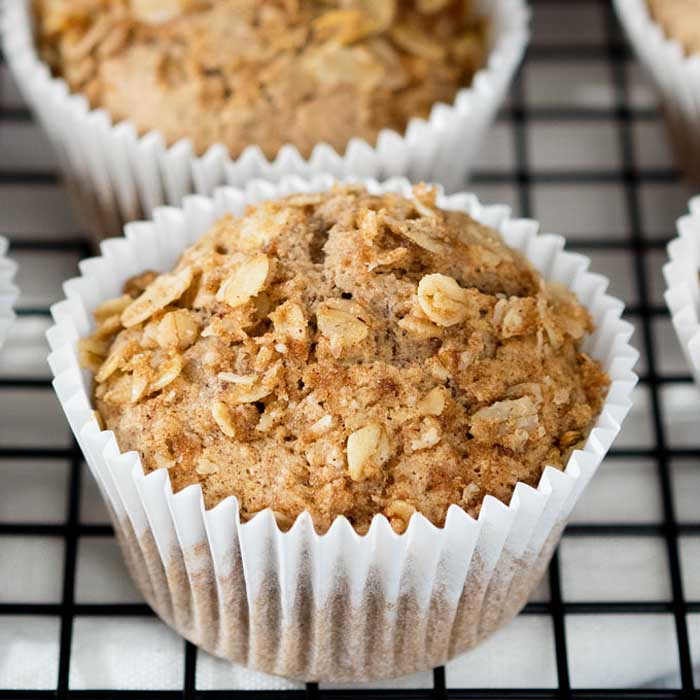 Vegan Cinnamon Breakfast Muffins
