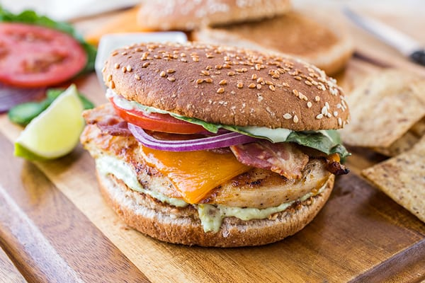 Tequila-Lime Chicken Burgers