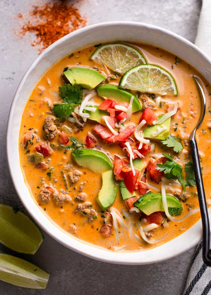 Low Carb Keto Creamy Taco Soup