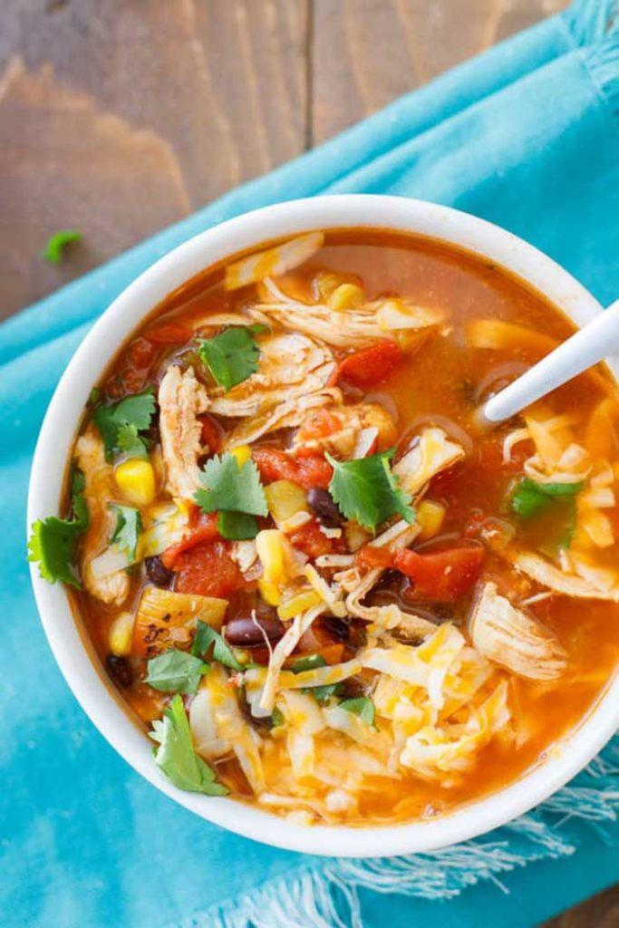 Instant Pot Chicken Taco Soup