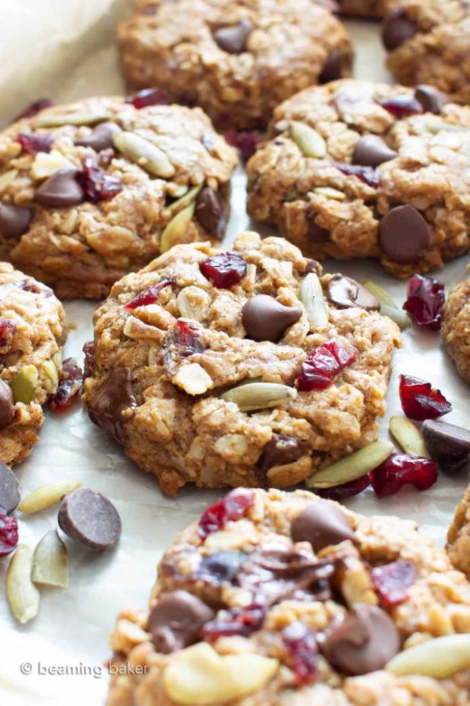 Easy Chewy Vegan Trail Mix Cookies