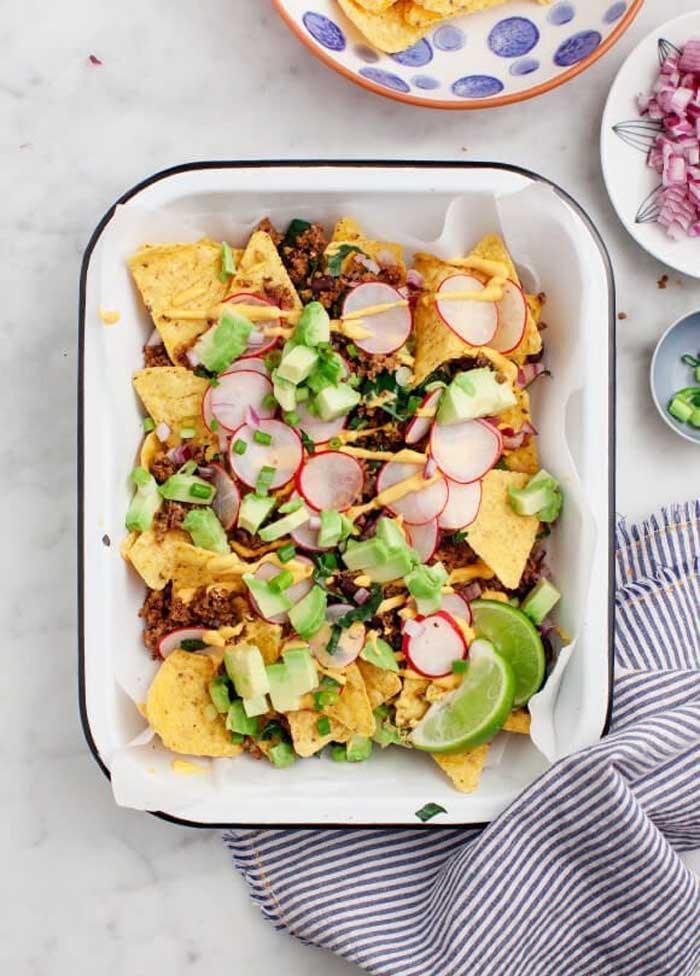 Healthy Loaded Vegan Nachos