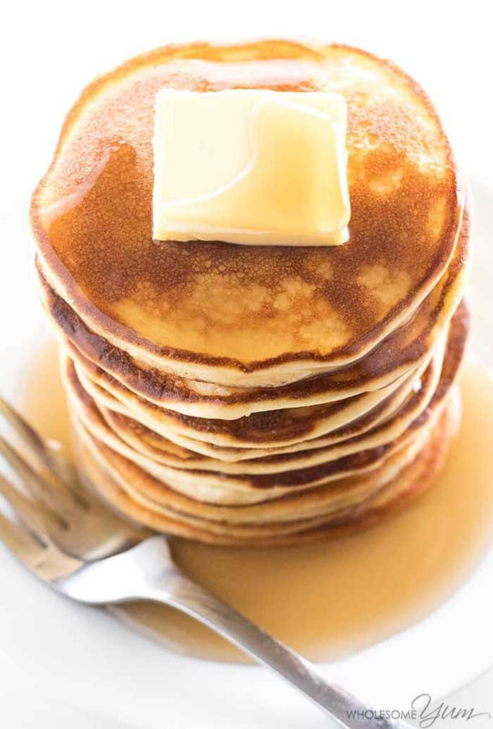 Easy Coconut Flour Pancakes with Cream Cheese