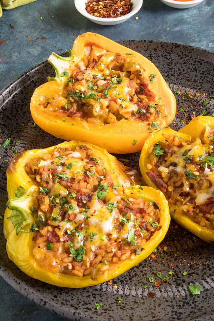 Spicy Jalapeño Vegetarian Stuffed Peppers