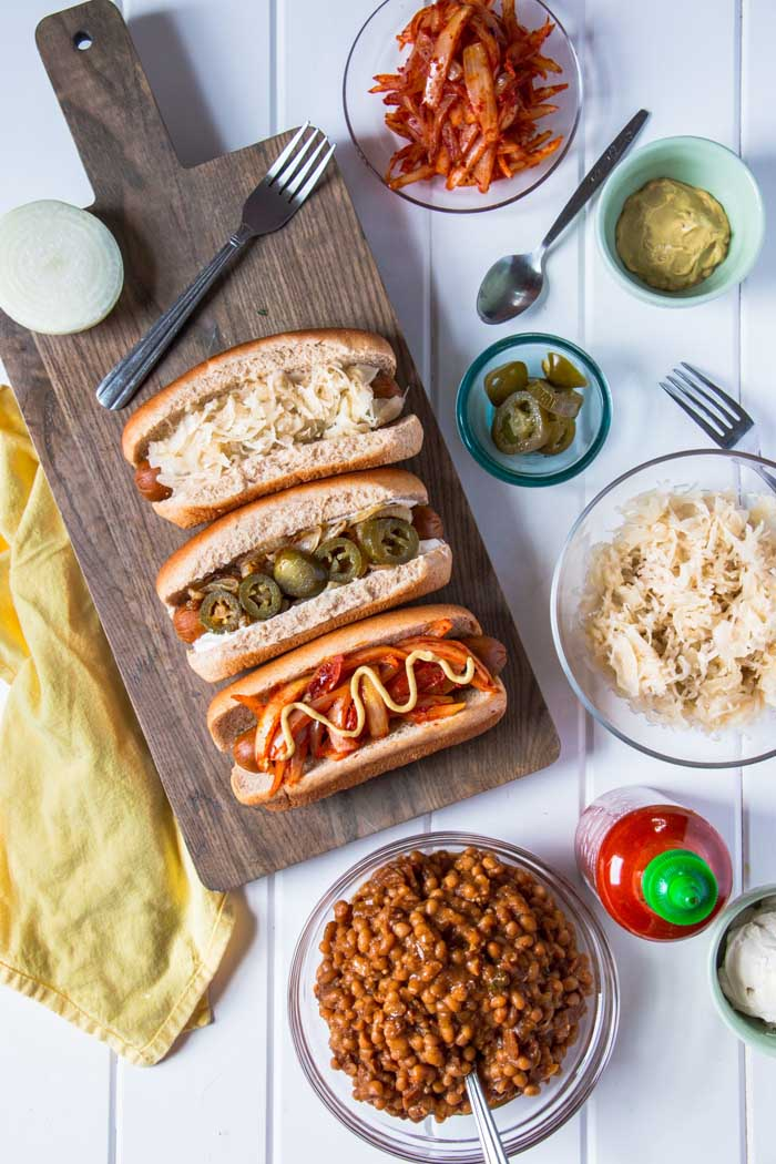 All-American Hot Dogs, Three Ways