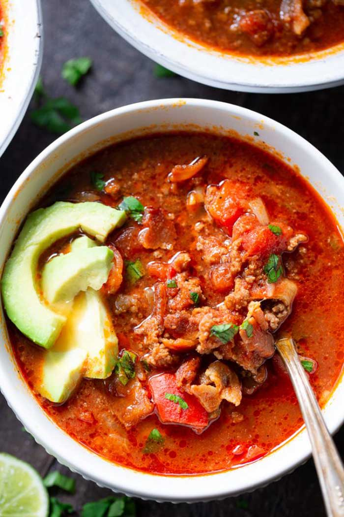 Beef Chili with Bacon